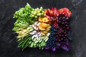Fruits et légumes colorés